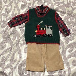 Blueberi Boulevard 12 month boy matching outfit.